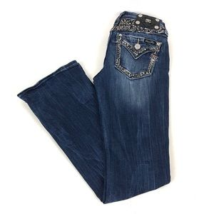 MISS ME Easy Boot Mid-Rise Embellished Jean